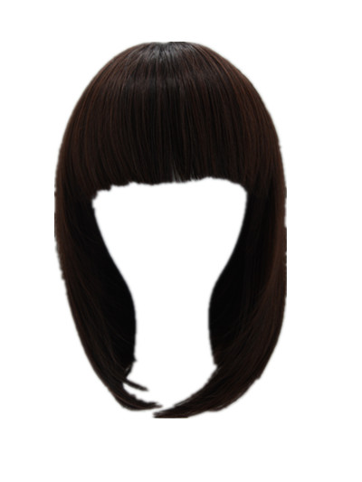 Generous Brown Wig Fei-show Synthetic Heat Resistant Women Hair Costume Cos-play Carnival Salon Party Short Wavy Student Bob Hairpiece Bringing More Convenience To The People In Their Daily Life Hair Extensions & Wigs Synthetic Wigs