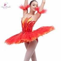Rozmiar klienta wykonane profesjonalne tutu dziewczyna taniec tutu dorosłych kobiet taniec kostium Tutu balet tutu Fire Bird