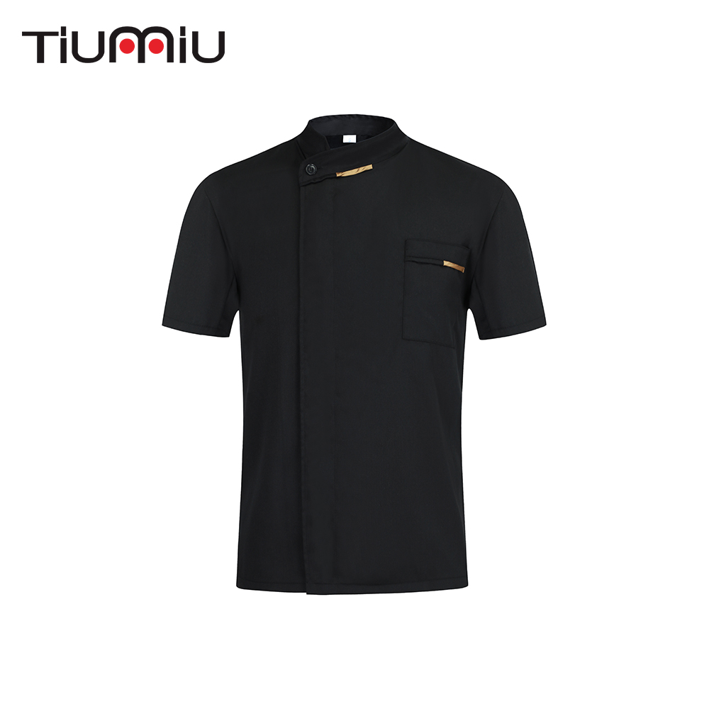 Chef Jacket High Quality Food Service Restaurant Kitchen Hotel Barbershop Sushi Costume Men Women Short Sleeve Work Clothes