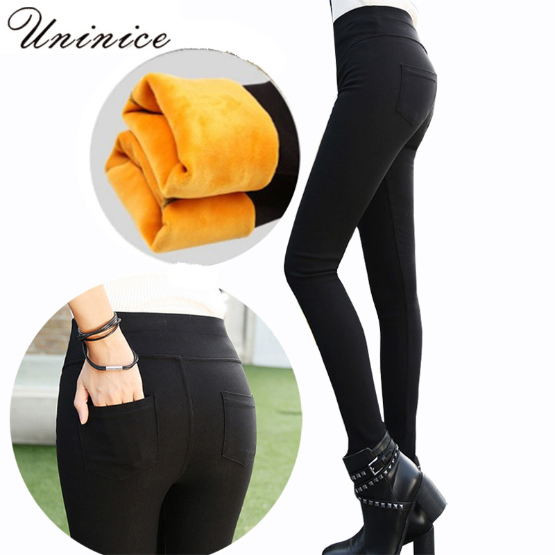 womens pants elastic waist  pencil pants slim stretch Thick Velvet 2017 femininas Plus Size Femme black skinny jeans woman high womens stretch plus size ripped black jeans femme large big size skinny distressed jeans woman summer thin pants 4xl 5xl 6xl 7xl