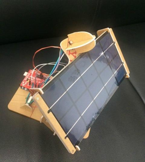 Customize DIY Mini Solar Panel Tracker 2 Axis 6V 5W Electronics Power Controller Board Servo Duino Expansion Toy Machine