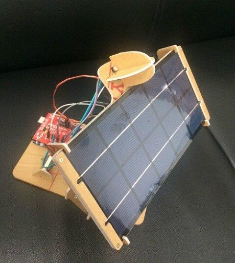 Personnaliser bricolage Mini panneau solaire Tracker 2 axes 6 V 5 W électronique contrôleur de puissance carte Servo Duino Expansion jouet Machine