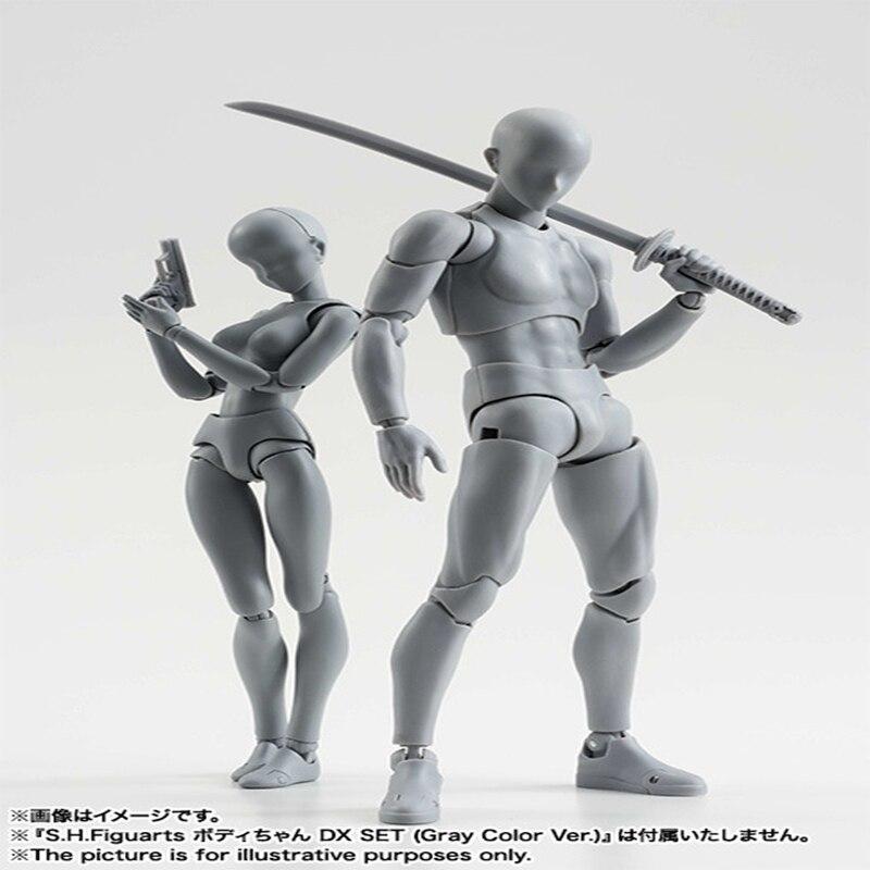 Original Er Sie Ferrit Figma Beweglichen Körper SHF Feminino Kun Körper Chan PVC Action Figure Sammeln Modell Spielzeug für Jungen geschenk BOX
