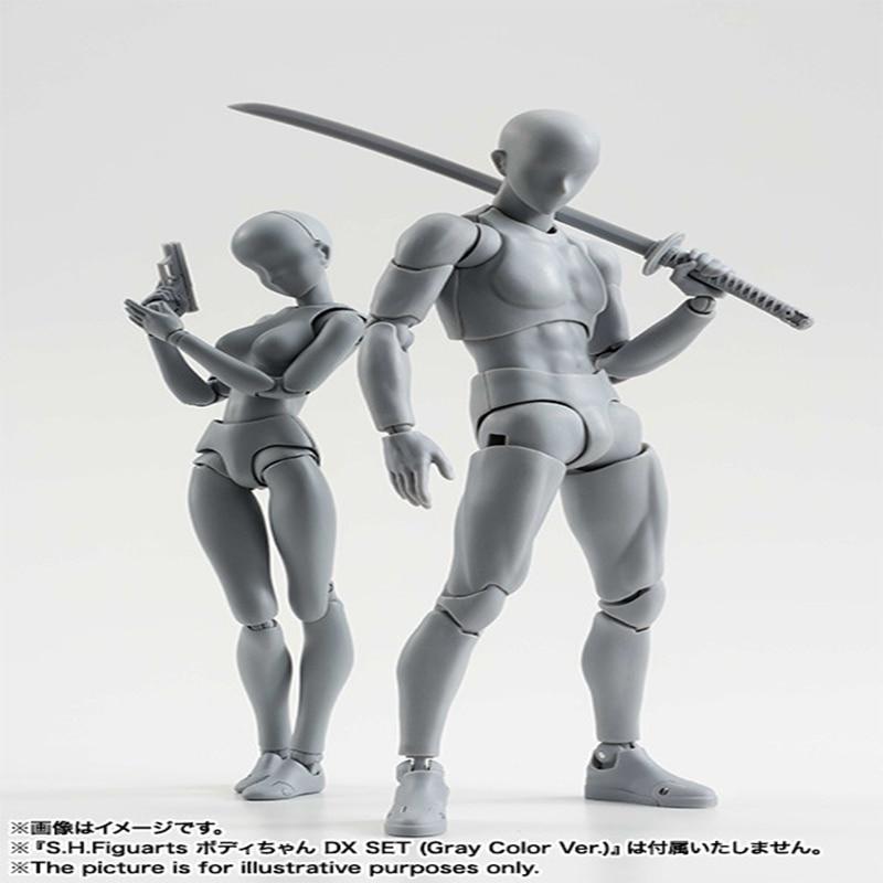 Original ele ela ferrite figma corpo móvel shf feminino kun corpo chan pvc figura de ação collectible modelo de brinquedo para caixa de presente do menino