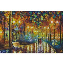Rainy Walk Fluorescent paper puzzle 1000 pieces Noctilucent jigsaw puzzles for adults Childrenchristmas