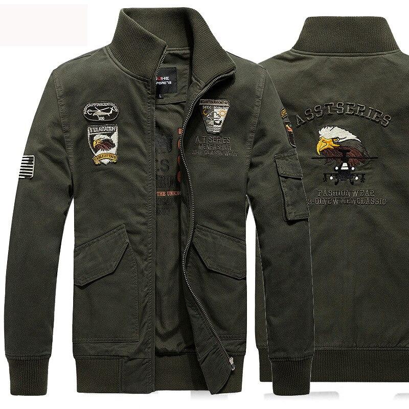 2016 Fashion Army Style Windbreaker Men Jacket Solid Chaqueta Hombre Black Denim Jacket Men Casual Veste