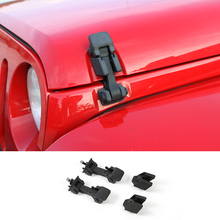 SHINEKA автомобильный Стайлинг Черный капот замок двигателя капот защелка для Jeep Wrangler TJ 1997-2006