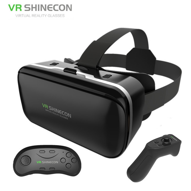cff9170011c Vritual Reality Goggles VR Shinecon G04 6.0 Vr Headset 3D Video Glasses  Helmet 3d Box vr For 4.5-6.0 Smartphone+Bt Controller