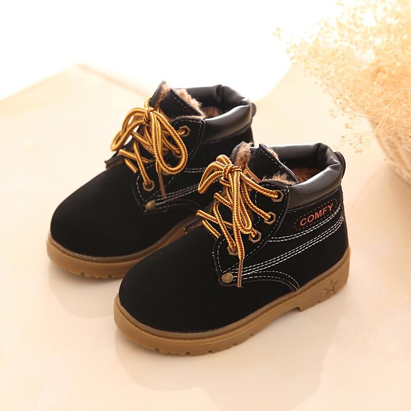 8501e6fd541433 Hot Item Children Snow Boots Leather Children Bota Kids Fashion Boys Girls  Rubber Boots High Quality Plush Thick Cotton Shoes