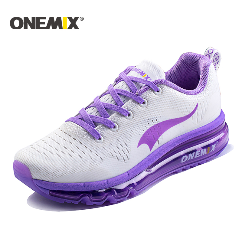 onemix Air Sports Running Shoes women cushioning breathable Sneakers men sport shoes outdoor walking shoes tennis
