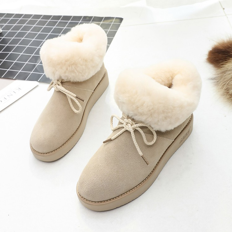 Fashion women winter snow boots lace-up plus velvet warm ankle boots women 2018 newest round toe boots female shoes woman eiswelt women mid calf boots winter snow boots warm round toe flat shoes female fashion lace up boots plus size zqs182 page 8