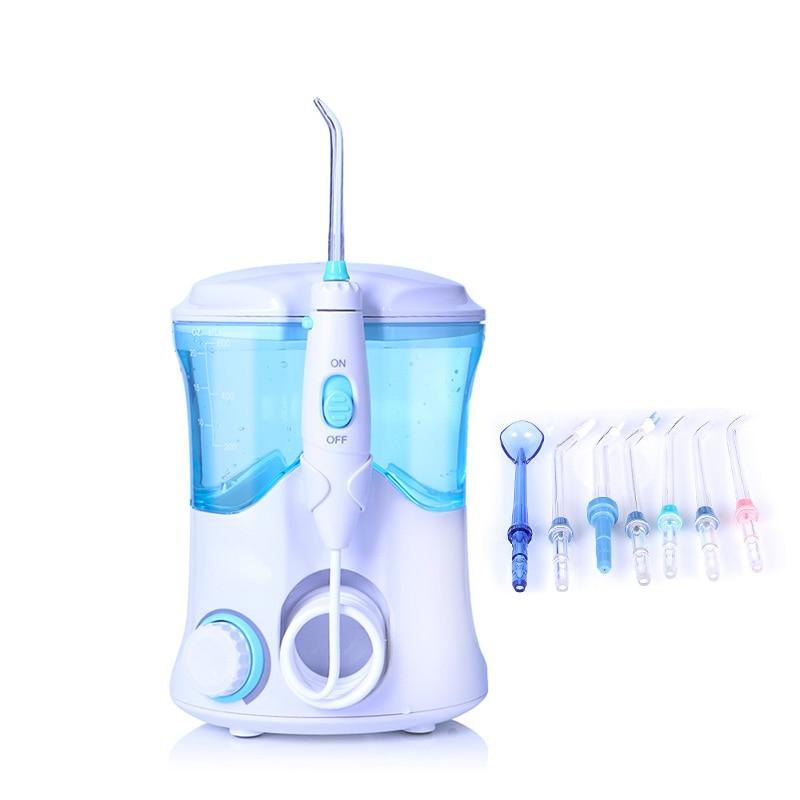 TINTON VITA FC-169 FDA Acqua Flosser Con 7 Punte Elettrico Orale Irrigatore Dentale Flosser 600 ml Capacità Igiene Orale Per famiglia
