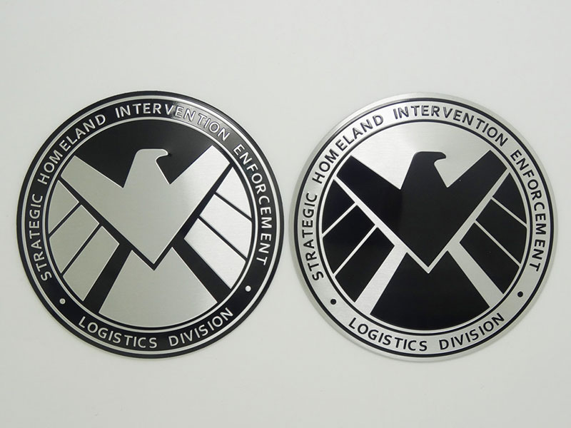 Multitype Personalized Stickers Marvel Agents Of Shield Emblem Badge