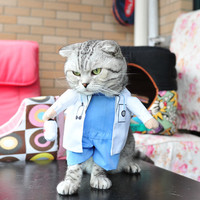 New Hot Sale Cats Outfit Doctor Small Dogs Puppy Pet Costume Clothes Funny Suit Doctor Uniform
