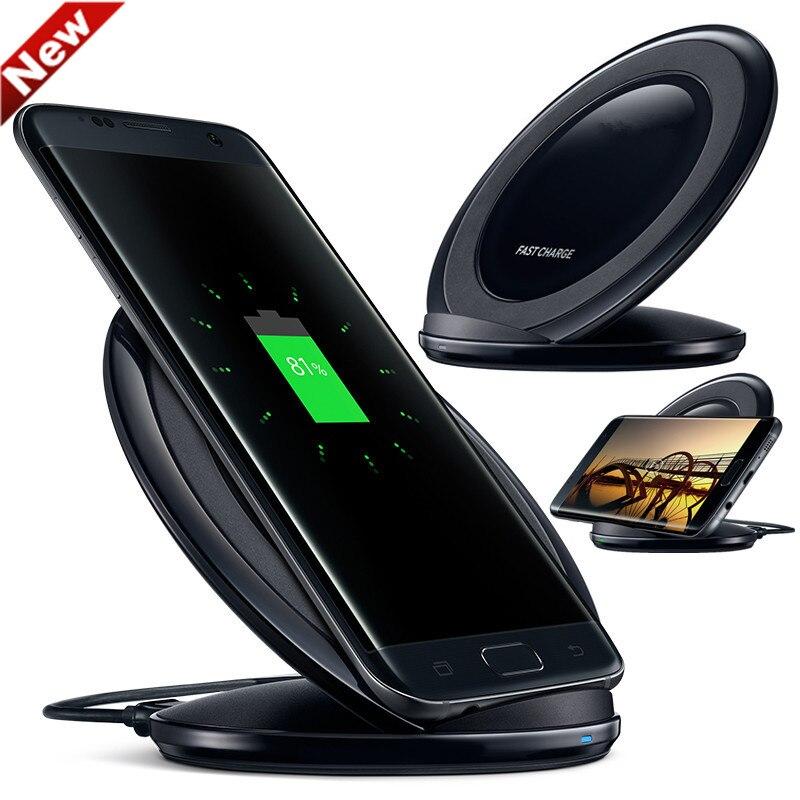 D'origine QI Chargeur Sans Fil Pad Charge Rapide EP-NG930 pour Samsung Galaxy S7 iPhone8 Plus S6 S8 S8 Plus G955 S6edge N9200 G9200