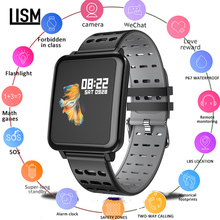 Smartwatch IP67 Waterproof Wearable Device Bluetooth Pedometer Heart Rate Monitor Color Display Smart Watch For Android/IOS все цены