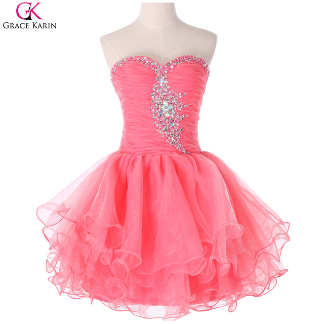Grace karin vestido corto de baile vestidos de lentejuelas rebordear ...