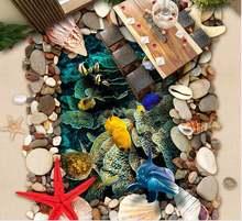 3d фотообои Пол морской мир творческие обои для детской комнаты