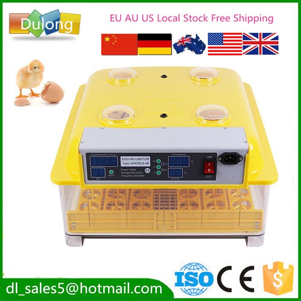 CE Approved newest automatic 48 chicken egg incubator  quail brooder hatcher machine for hatching eggs free ship to au new sale home automatic egg incubator 56 eggs chicken incubator brooder quail eggs incubators