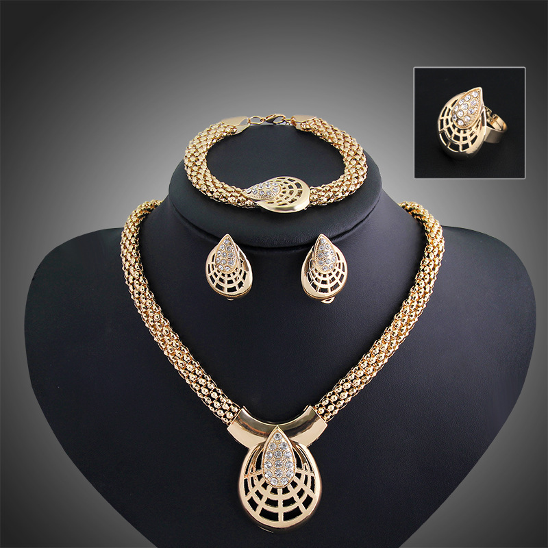 African beads jewelry set new fashion accessories wedding for Vintage costume jewelry websites