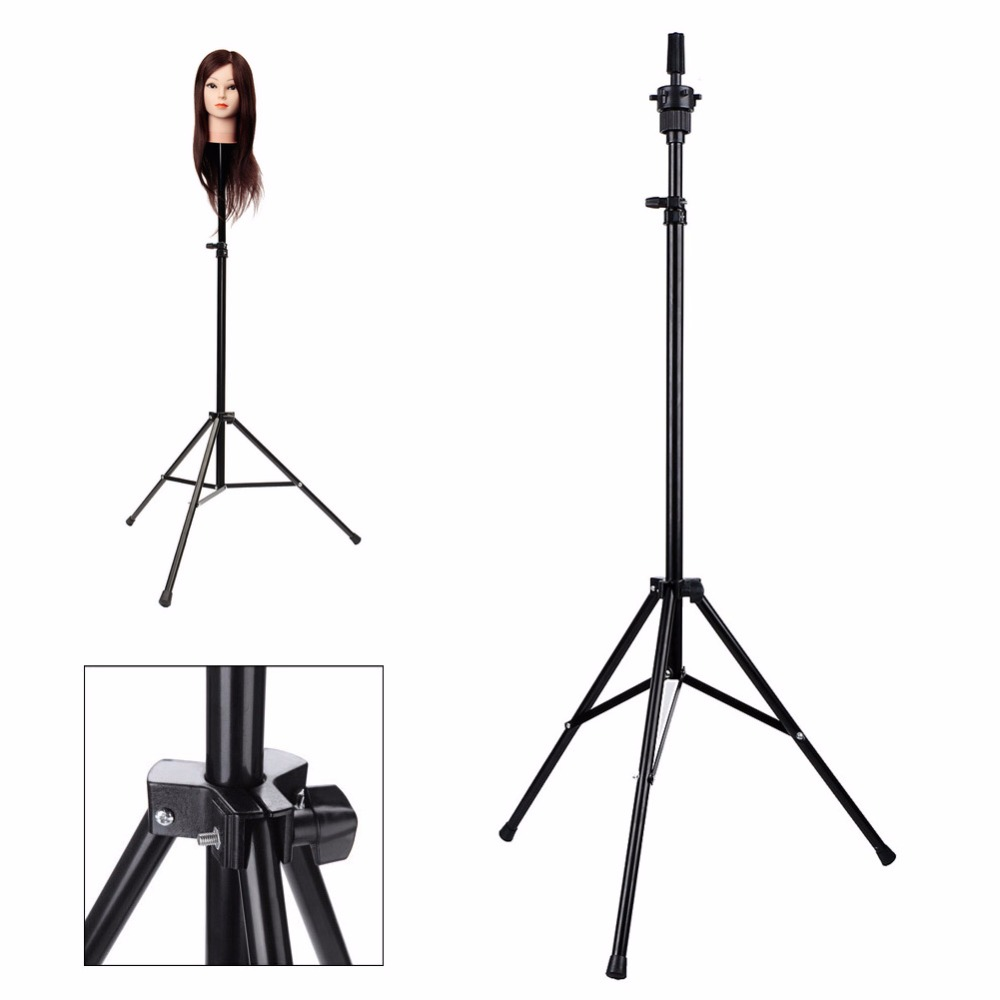 NoEnName Null Adjustable Hair Salon Tripod Stand Cosmetology Training Mannequin Head Holder