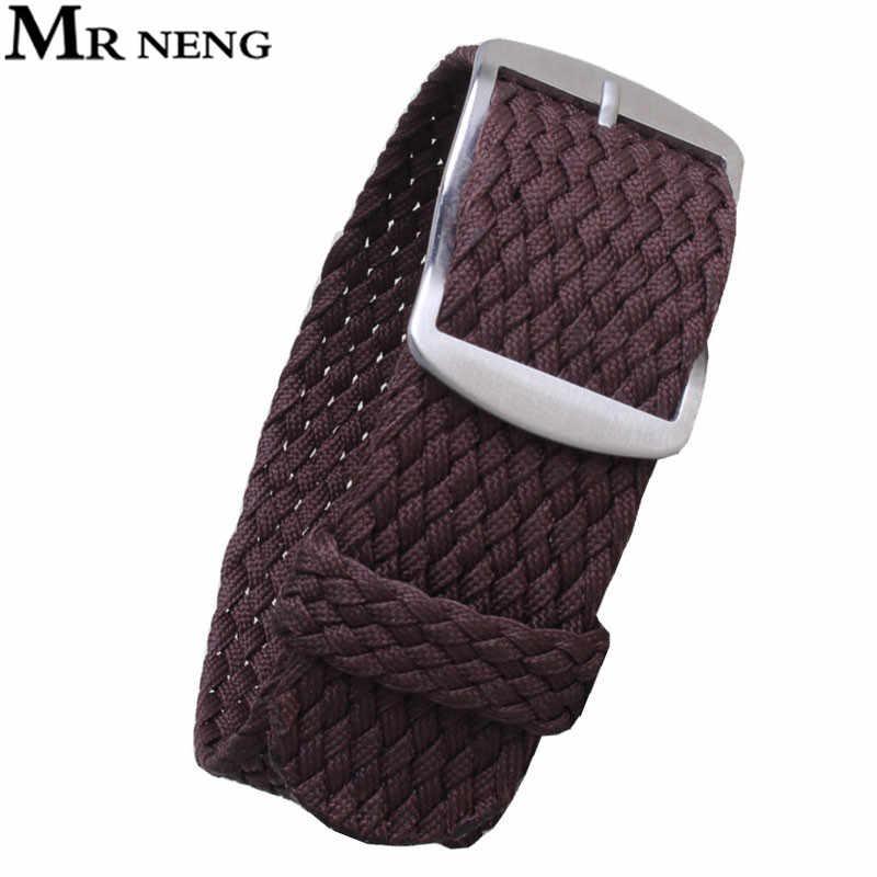 """מר NENG 1 יחידות/אופנה סיטונאי נאט""""ו ניילון רצועת השעון חום 20 מ""""מ 22 מ""""מ רצועת שעון עמיד למים ניילון עבור perlon גברים ונשים"""