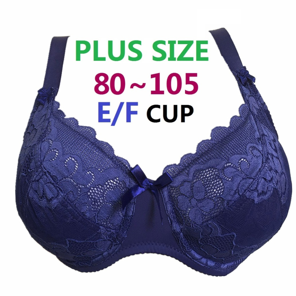 Plus Size Underwired Non Padded Ultra Thin Sexy Full Lace