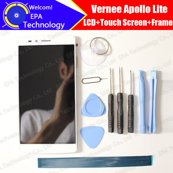 Vernee Apollo Lite LCD Display + Touch Screen Digitizer + Frame Assembly 100% Original New LCD + Touch Digitizer for Apollo Lite