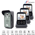 Cheapest digital video camera wireless door video phone intercom doorphone 3 monitors call to each other freely