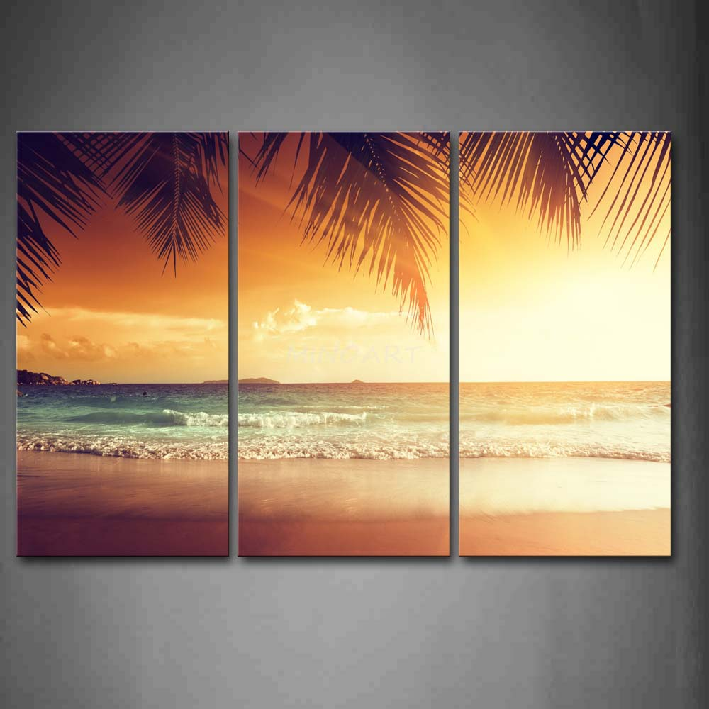 Old Fashioned Beach Framed Wall Art Motif - The Wall Art Decorations ...