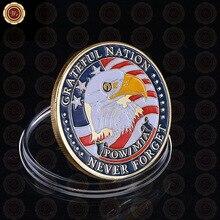 Позолоченная монета Америка POW& MIA Greatful Nation Never Forget памятная монета оптом нормальные металлические монеты из сплава