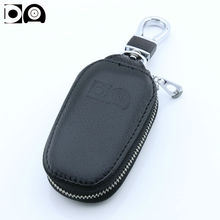 цена на Newest key case for car Leather car key wallet bag holder Custom logo for Skoda Octavia Superb Fabia Yeti Rapid Citigo Roomster