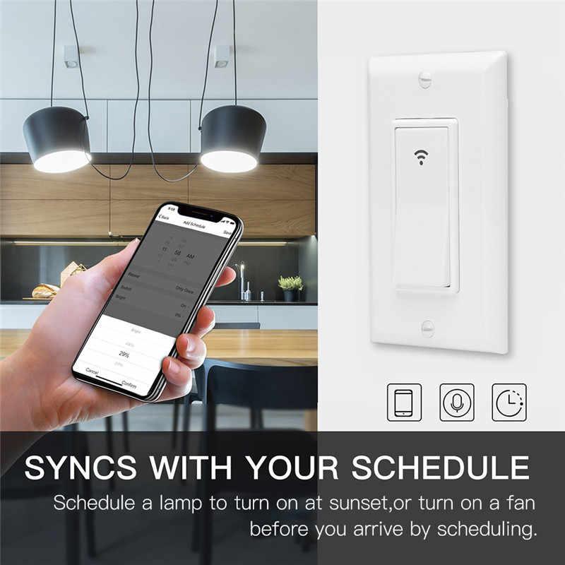 WiFi умный настенный выключатель света мобильное приложение дистанционное управление не требуется концентратор Работает с Amazon Alexa Google Home IFTTT Smart home