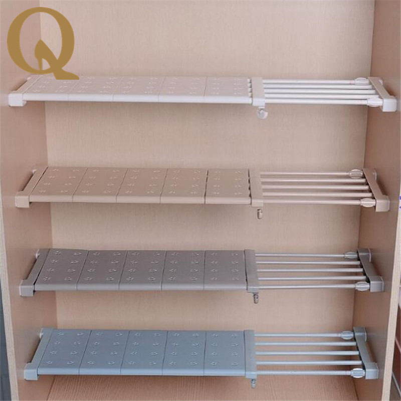 Wardrobe Storage Shelf Cabinet Layered Partition Board Nail Free Kitchen  Bathroom Shelf Partition