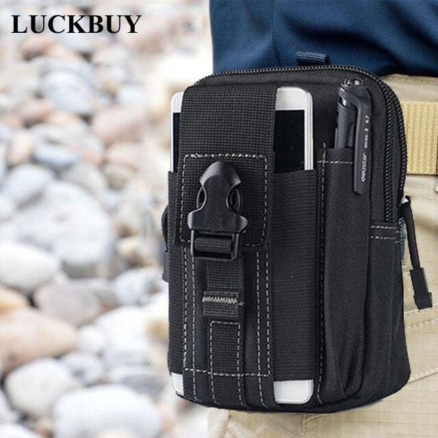 LUCKBUY Universal Coldre Tático Militar Molle Ao Ar Livre Hip Cintura Belt Bag Bolsa Carteira Caso de Telefone Bolsa com Zíper para S8 LG