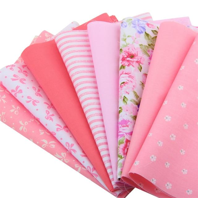 2015 Impression Rose Fleur 5 Couleurs Coton Bandes De Tissu Patchwork Quilting Tilda Artisanat Pour Le BRICOLAGE Jouets Tissu Robe 20X50 CM T1-8-8