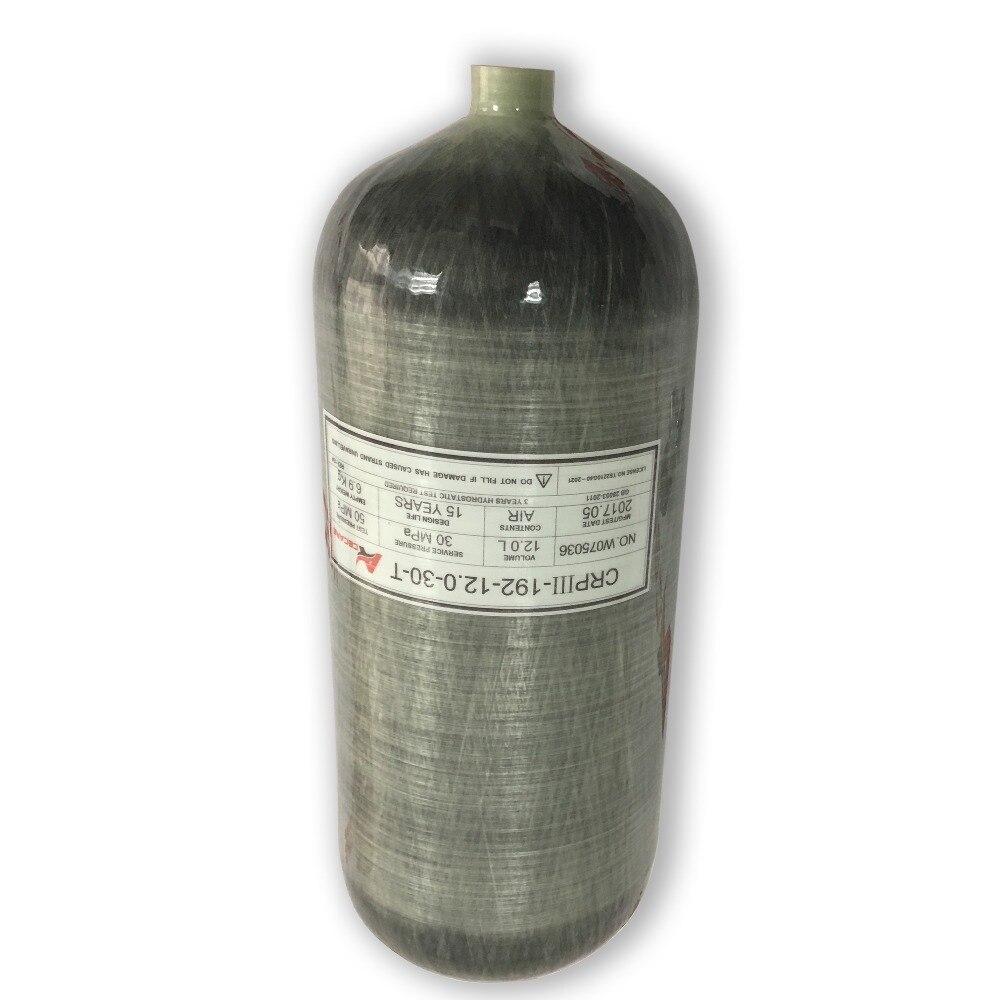 AC3120 12L GB Pcp 300 Bar High Pressure Tank Refilling Use/Scuba Diving Bottle/Paintball Tank  Drop Shipping