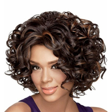 Natural Short Layered Curly Synthetic Hair Wig for Women Black/Blonde Cheap Afro Kinky Curly Hair Wigs for Black Women