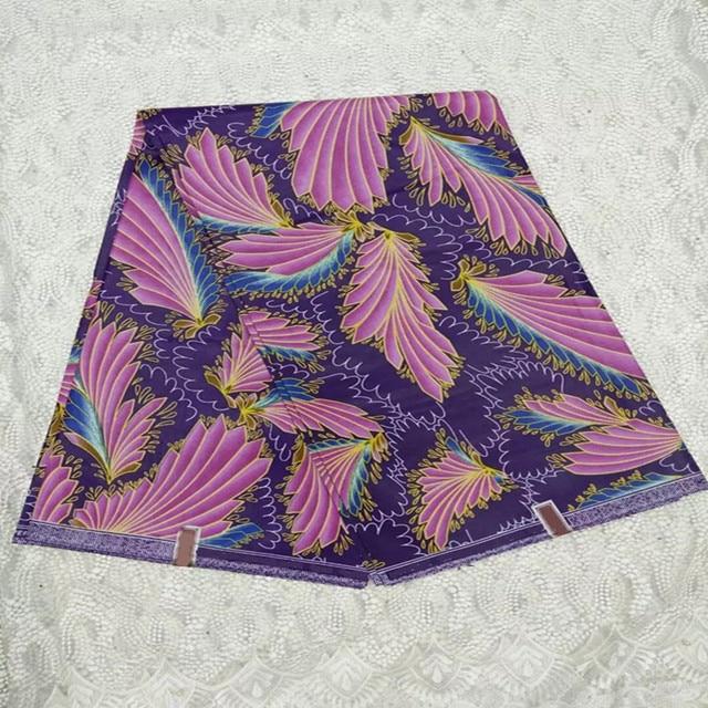 High Quality Purple Color African Dutch Wax Super Batik Java Nice Print Fabric For