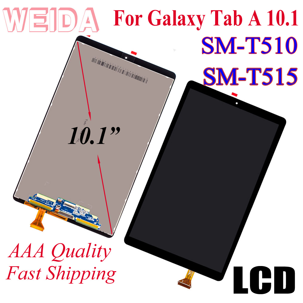 """WEIDA LCD Replacment 10.1"""" For Samsung Galaxy Tab A 10.1(2019) WIFI T510 SM-T510 T510N LCD Display Touch Screen Assembly T515"""