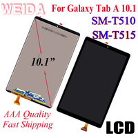 WEIDA LCD Replacment 10.1 For Samsung Galaxy Tab A 10.1(2019) WIFI T510 SM T510 T510N LCD Display Touch Screen Assembly T515