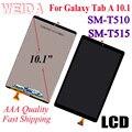WEIDA LCD Vervangend 10.1 Voor Samsung Galaxy Tab EEN 10.1 (2019) WIFI T510 SM-T510 T510N Lcd-scherm Touch Screen Assembly T515