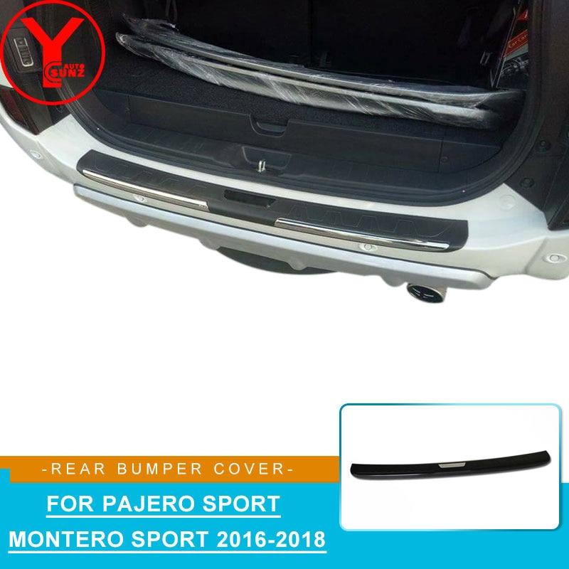 ABS Car Rear Bumper Protector Stickers For Mitsubishi Pajero Sport Montero Sport 2016 2017 2018 Accessories For Pajero YCSUNZ