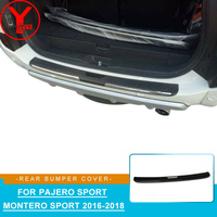ABS car rear bumper protector stickers for mitsubishi pajero sport montero sport 2016 2017 2018 accessories for pajero YCSUNZ