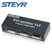 STEYR DVI 2 Port Splitter 1x2 Dual Link DVI D Up To 1920x1080 Dvi Video Splitter