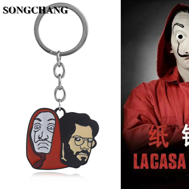 a2a122d47 TV Shows House of Paper Keyrings Money Heist Keychain La casa de papel  Tokyo Doctor Image Chaveiro Women Men Fashion Jewelry