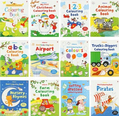 Original English usborne colouring books children\'s painting ...