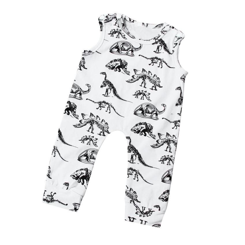 Newborn Baby Rompers Infant Baby Boy Rompers Dinosaur Print Sleeveless Jumpsuit Romper Outfits Baby Clothes Newborn Clothes new arrival boy costumes rompers cotton newborn infant baby boys romper jumpsuit sunsuit clothes outfits