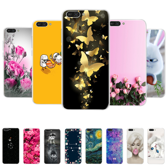 For Huawei Honor 7C 7A Pro 6C 6X 6A Case Phone Back Cover Silicone TPU Painted Cases For Huawei Y7 Prime Y6 2018 Cover Case Capa