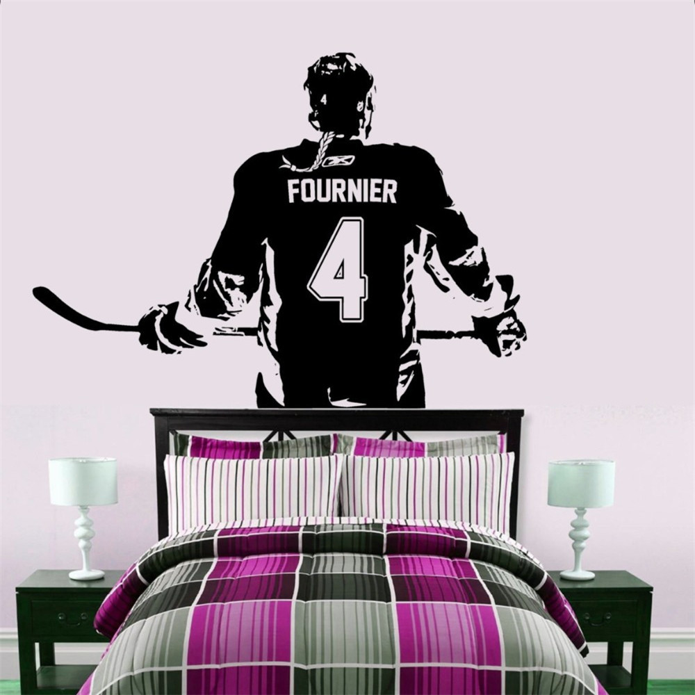Hockey Wall Decal Large Decal Custom Name Decal Boys: Hockey Girl Player Wall Art Decal Sticker Personalized